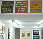 Three signs removed from a shop in Whitecross Street - Triptych (2010) by Stewart Home