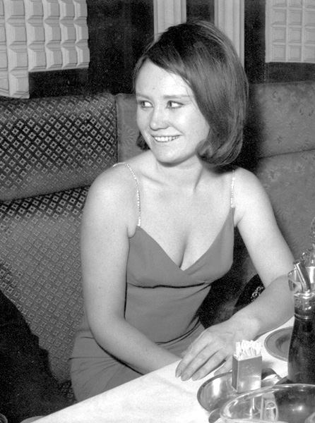 Julia Callan-Thompson working as a hostess in Churchill's Club London 1964